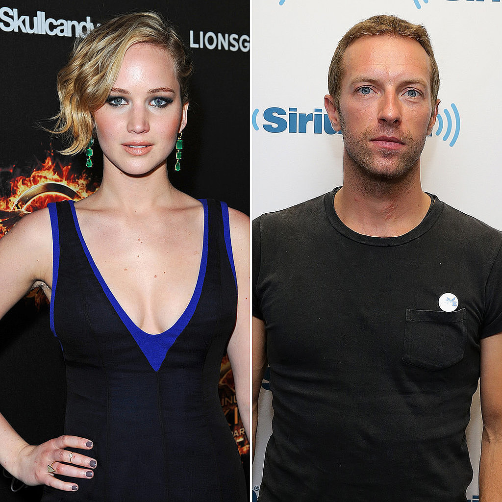 Jennifer Lawrence and Chris Martin