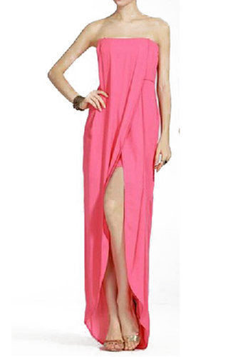 $179.00 BCBG JESSE DRAPED STRAPLESS GOWN PINK