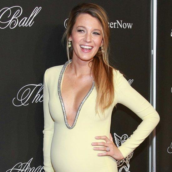 Blake Lively Pregnant Red Carpet Gucci Dress