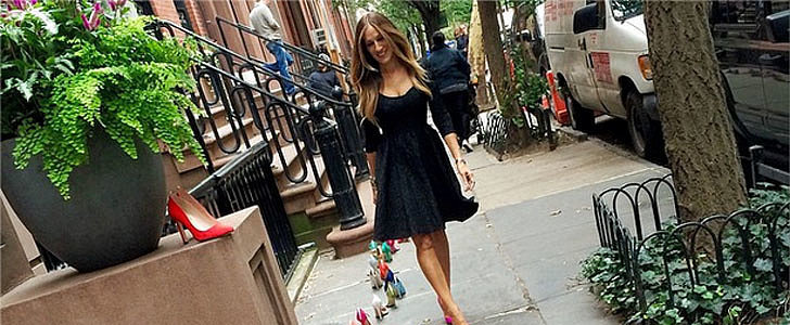 Sarah Jessica Parker Caught Trespassing on Carrie Bradshaw's Old Stoop?!