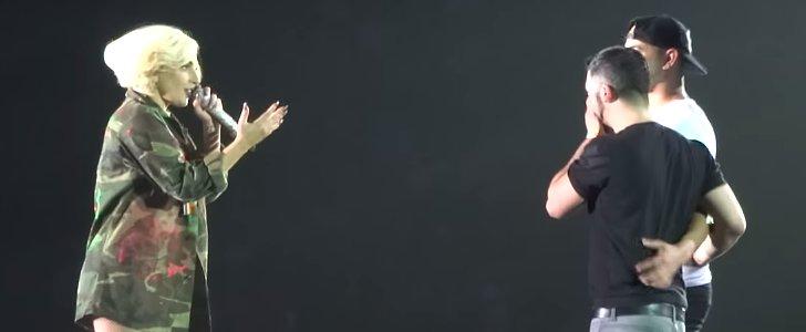 So Sweet! Lady Gaga Invites a Man on Stage to Propose to His Boyfriend
