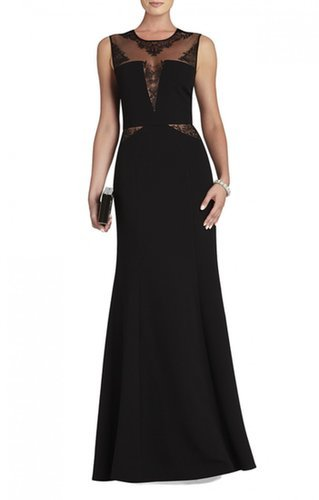 $199.00 BCBG SACHIE LACE-INSERT GOWN