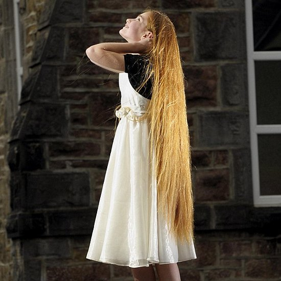 Little Girl Is Real Life Rapunzel With Long Hair