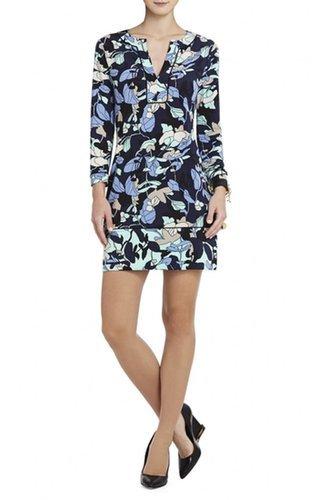 $157.00 BCBGMAXAZRIA MULTICOLOR HAYDEN PRINTED SHIFT DRESS