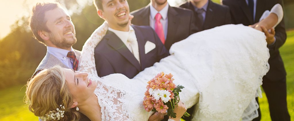 Watch a Bride Get LITERALLY Swept Off Her Feet by the Groom