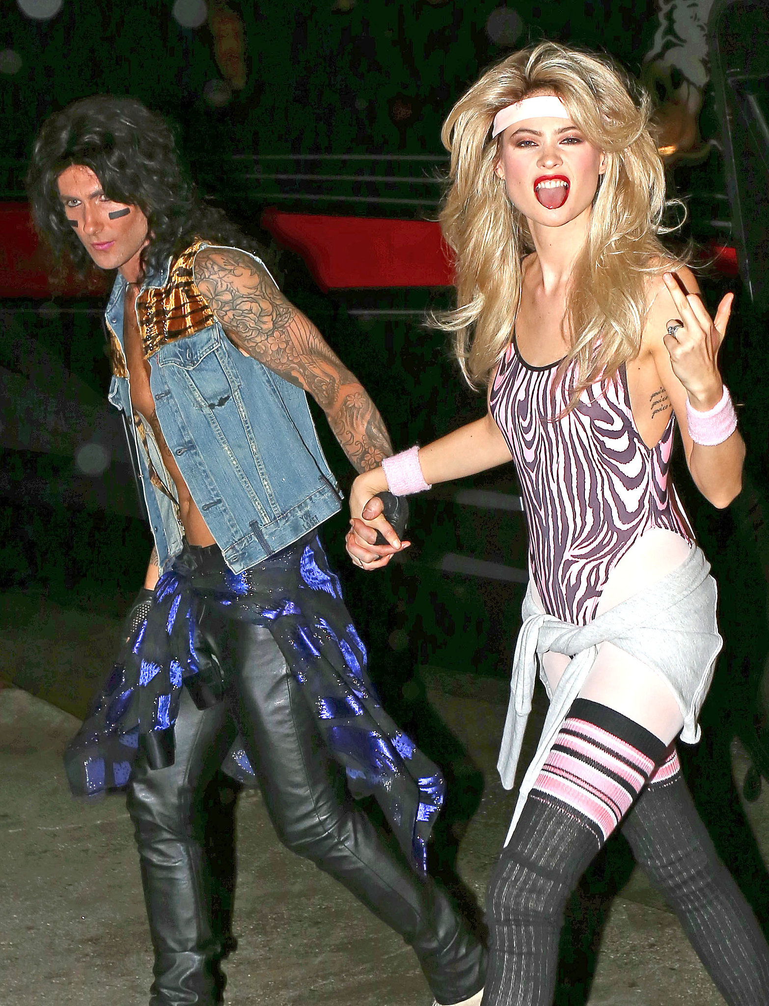 adam levine and behati prinsloo as an 80s couple 55