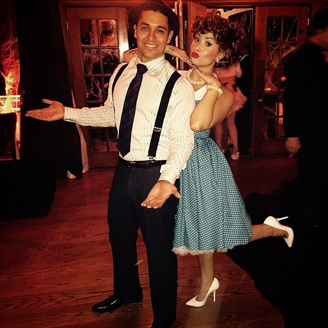Demi Lovato and Wilmer Valderrama looked adorable as Lucy and Ricky Ricardo in 2014.