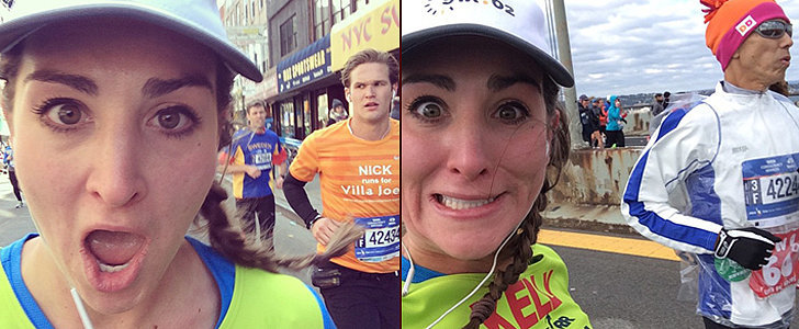 This Girl Ran the NYC Marathon and Took Selfies With 20 Guys Along the Way