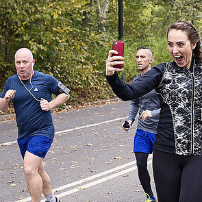Woman Takes Selfies During NYC Marathon