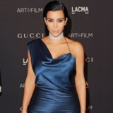 Kim Kardashian in Navy Gown at the LACMA Art + Film Gala