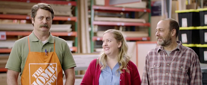 Nick Offerman Doubles as Home Depot Employee and Marriage Counselor