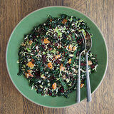 Healthy Brussels Sprout, Kale, and Lentil Salad