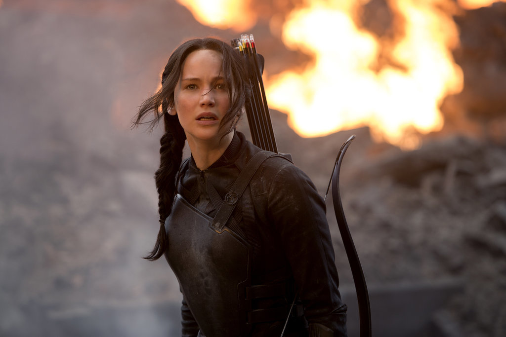 Katniss faces the fire.