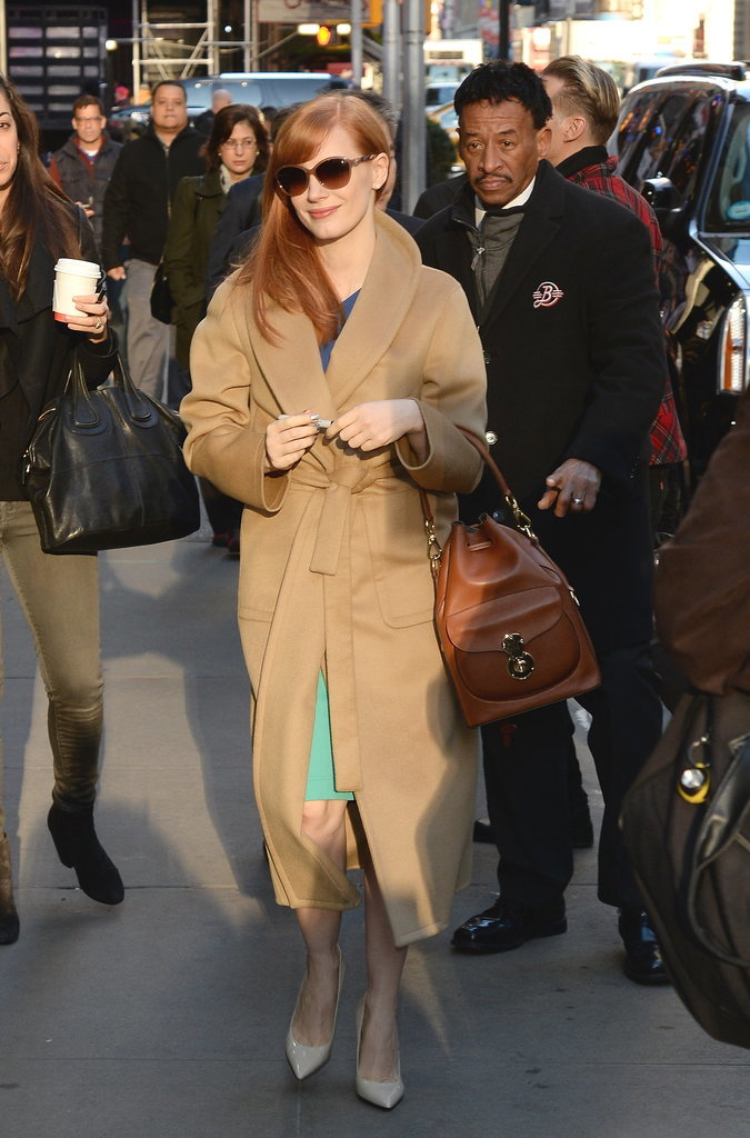 Jessica Chastain's Outerwear Style