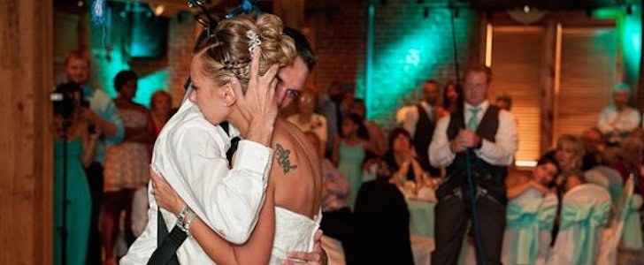 Watch Paraplegic Veteran Leave His Wheelchair to Dance With His Bride