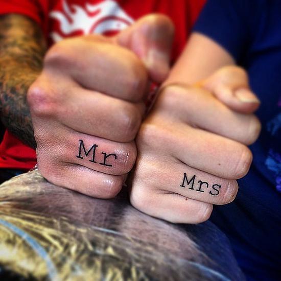 Tattoos als Ersatz für Eheringe