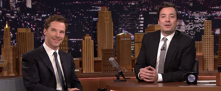 """Benedict Cumberbatch Trying to Get Jimmy Fallon to Say """"Booty"""" Is Perfection"""