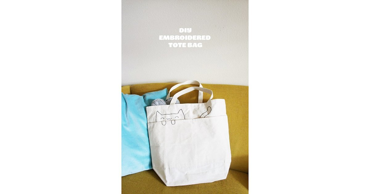 Stitched Tote Bag | 28 DIY Gifts For the Cat-Lovers in ...