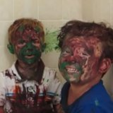 Video of Dad Trying Not to Laugh at Paint-Covered Sons