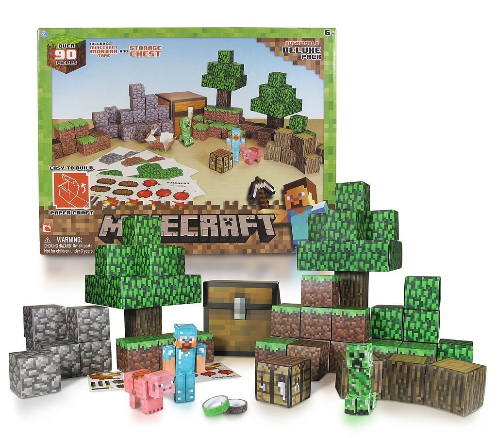 For 7-Year-Olds: Minecraft Papercraft Overworld Deluxe Set
