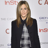 Jennifer Aniston Wearing a Plaid Dress | Street