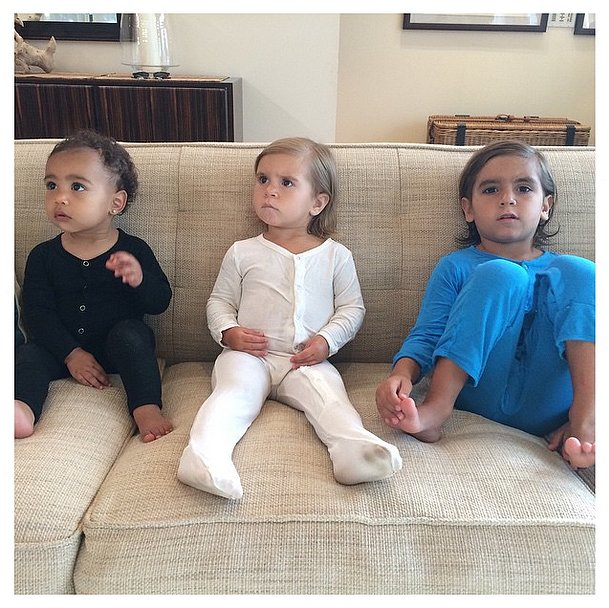 Kim shared a snap of North hanging with her cousins, Mason and Penelope in November 2014.