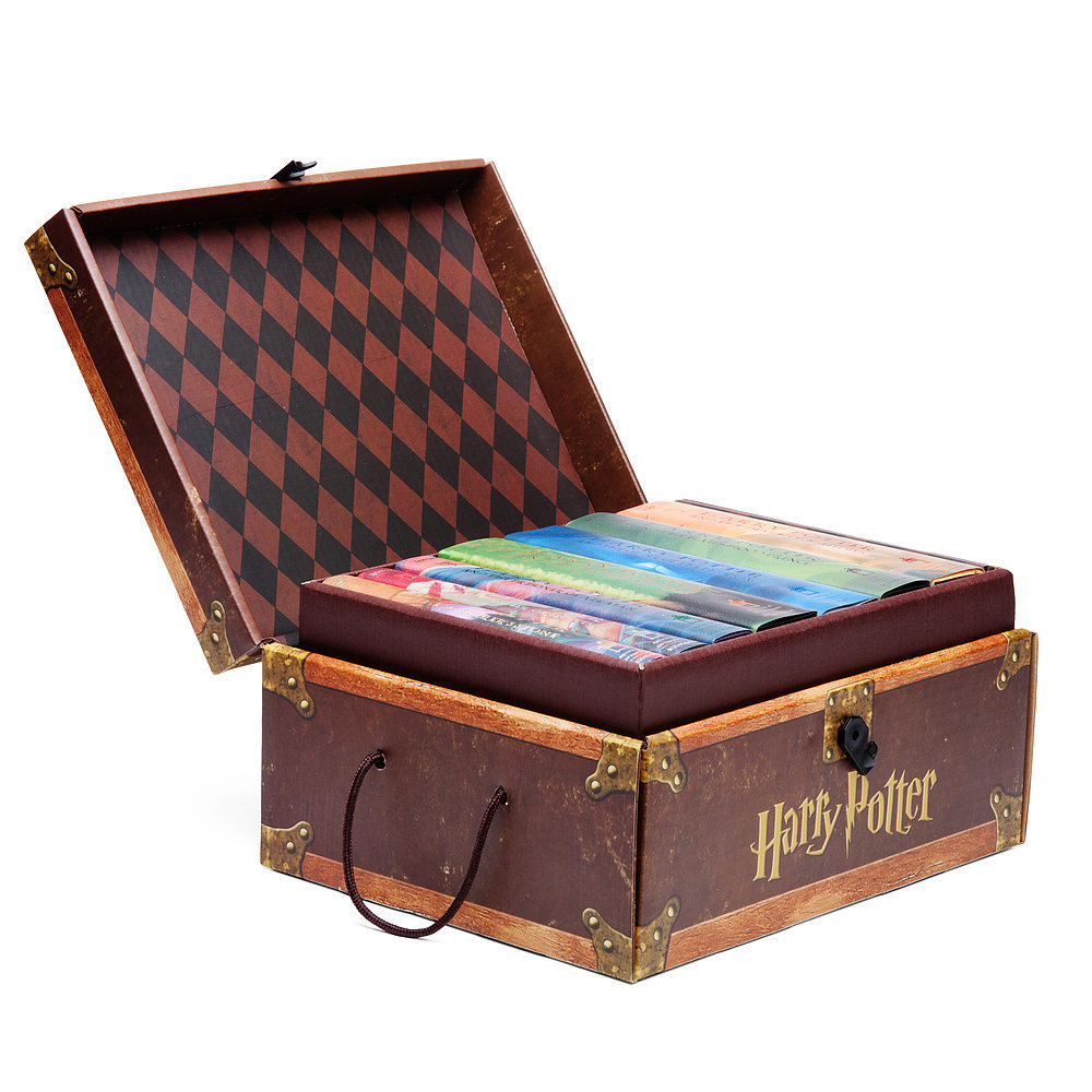 Harry Potter Boxed Hardcover Books Part 1-7 in Collectible Trunk-Like Box New