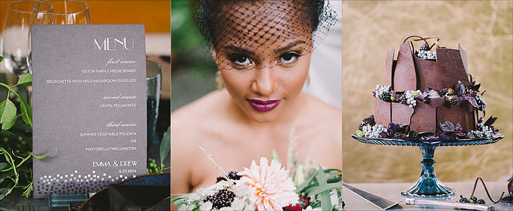 This Mosaic-Themed Wedding Inspiration Makes a Dark Palette Look So Dreamy