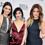 Kendall and Kylie Jenner at the American Music Awards 2014
