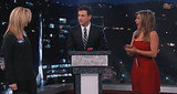 Best of Late Night TV: Jennifer Aniston and Lisa Kudrow's 'Celebrity Curse Off,' Tim Allen's Turkey Scooter Race (VIDEO)