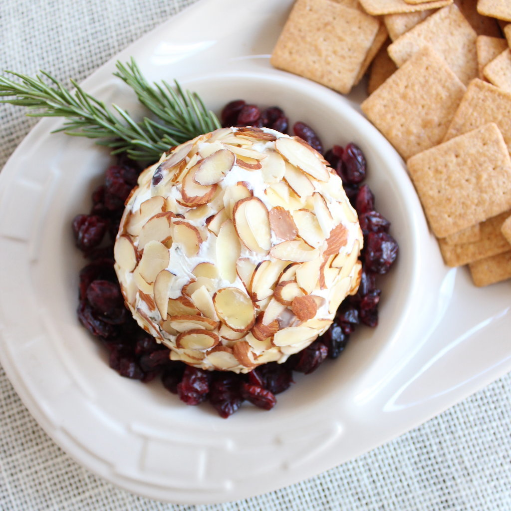 Cranberry Rosemary Goat Cheese Ball