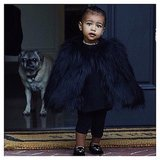 North West Wearing a Fur Jacket | Pictures