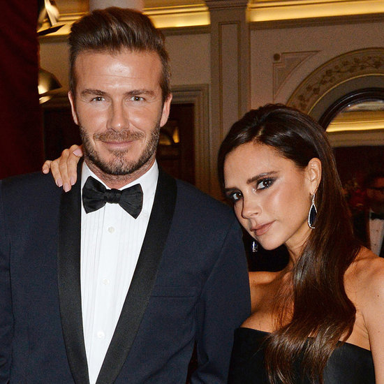 David and Victoria Beckham at Theatre Awards in London