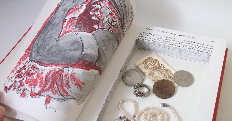 Hidden piggy banks 21 uses for old books popsugar for Secret piggy bank