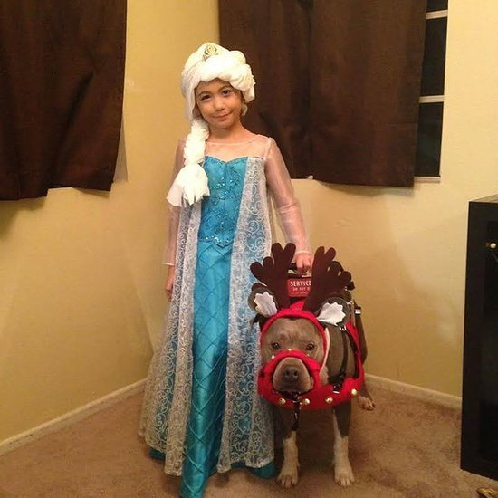 Autistic Girl and Service Dog Denied Picture With Santa
