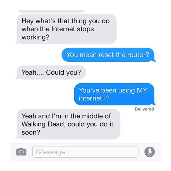 Neighbors From Hell Texts on Instagram