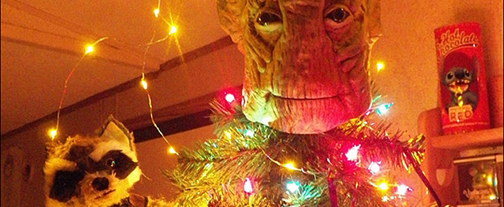 Stop Everything — Someone Made a Groot Christmas Tree