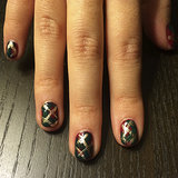 You're Going to Be Mad For This Plaid Christmas Nail Art Design