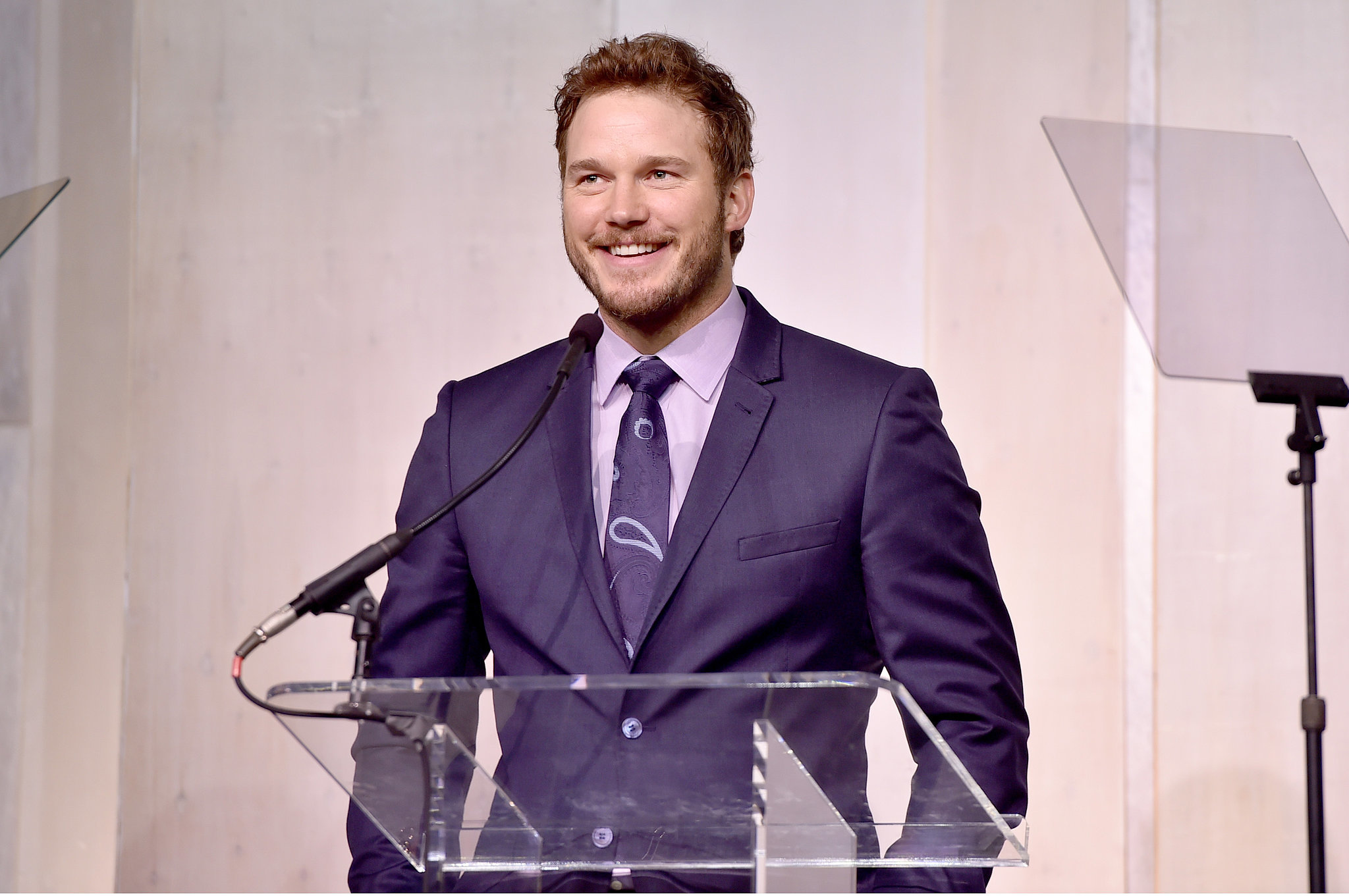Chris Pratt gives a moving speech about his son's premature birth