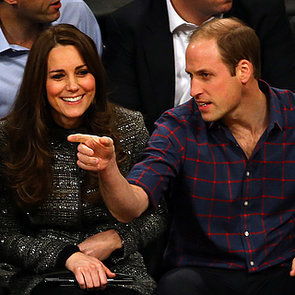 Kate Middleton and Prince William at Brooklyn Nets Game