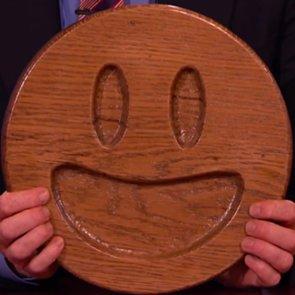 Wooden Emoji Made by Nick Offerman