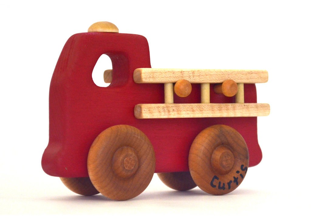 Hill Country Woodcraft Personalized Fire Engine ($22)