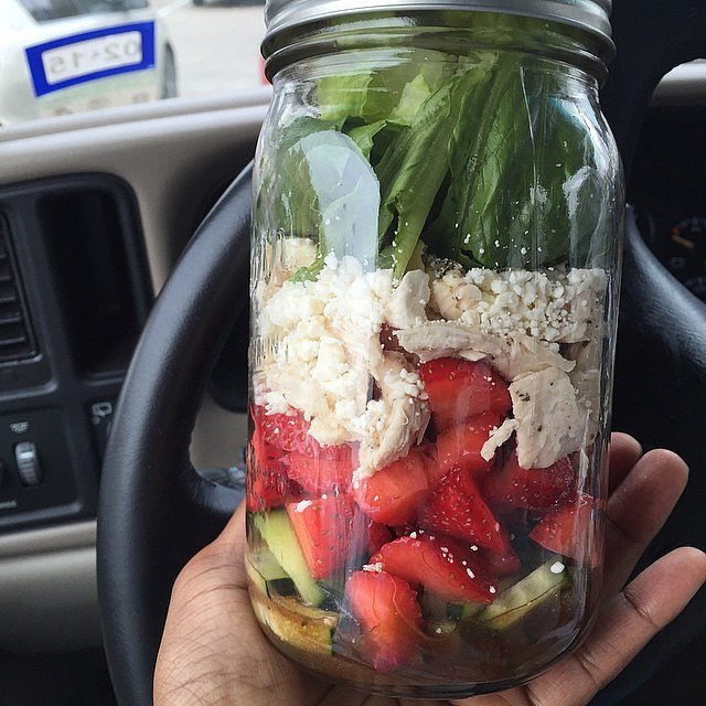 Strawberry and Feta Salad | Lose Weight With These Mason-Jar Salads ...