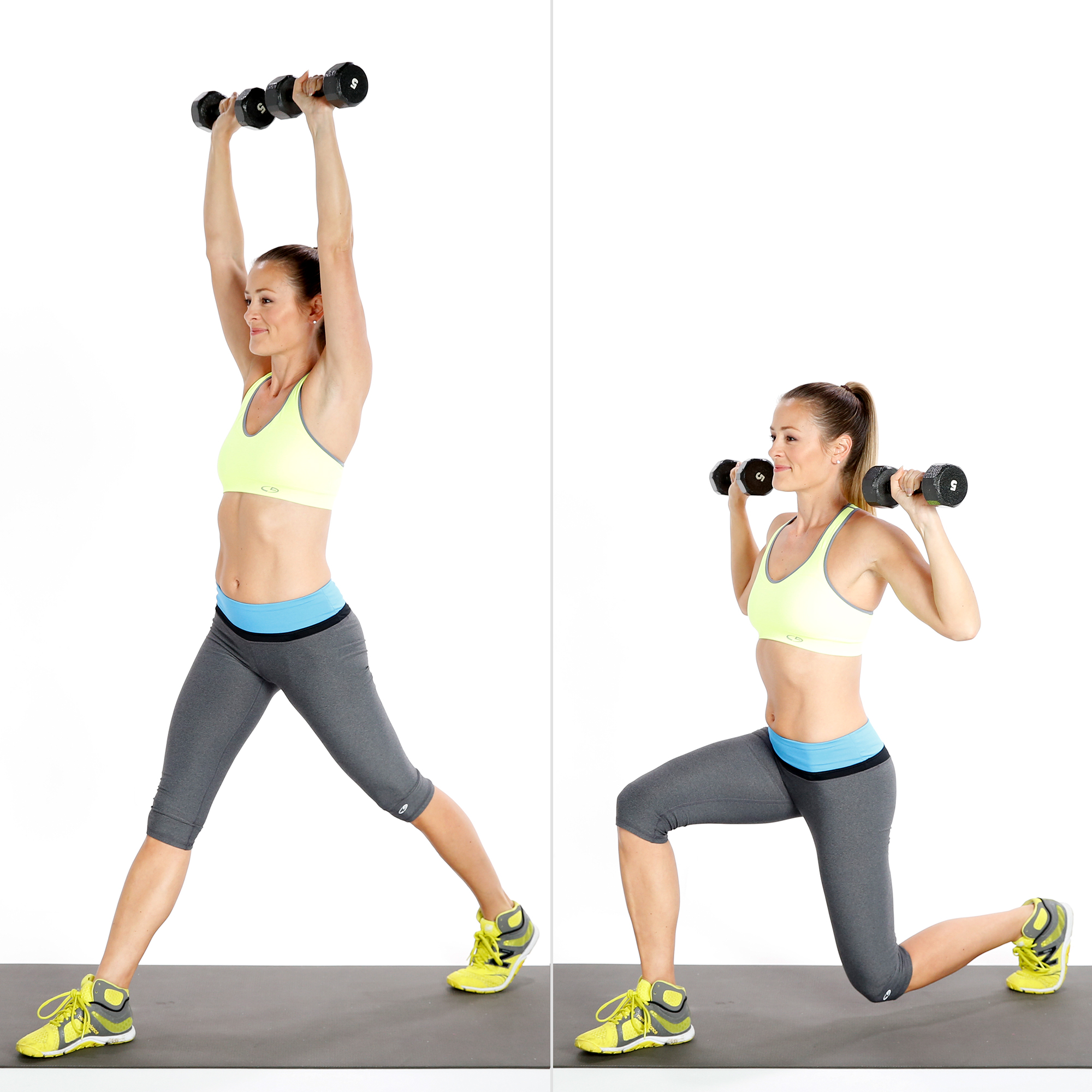 Circuit Two Split Squat With Overhead Press Build