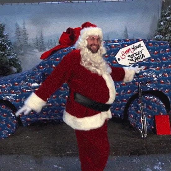 John Krasinski Dancing in a Santa Suit