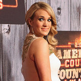 Carrie Underwood Shows Off Her Bump in White on the Red Carpet