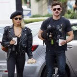 Zac Efron and Sami Miro With Their Adopted Puppy