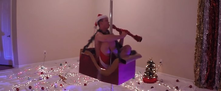 This Clarinet-Playing Pole Dancer Is the Only Holiday Gift You Need