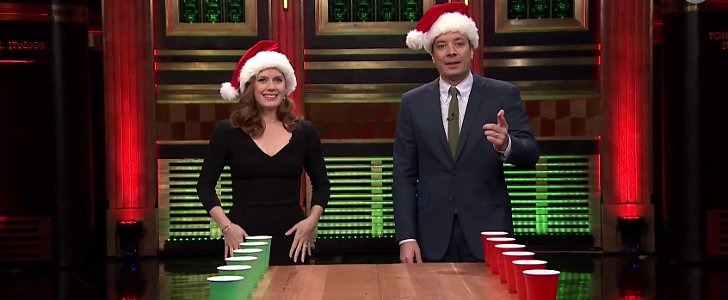 Amy Adams Is the Absolute Worst Flip Cup Player Ever