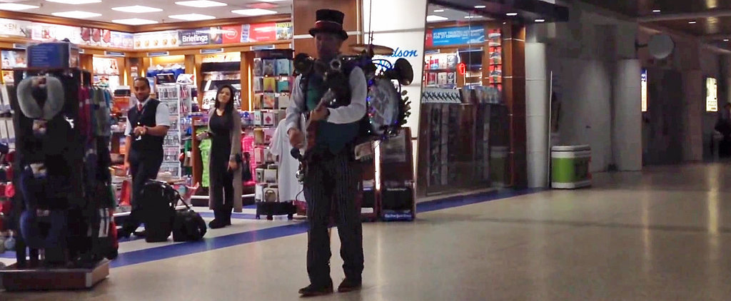 This Man Has Found the Perfect Way to Spread Holiday Cheer to Travelers